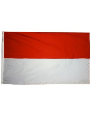 3ft. x 5ft. Monaco Flag with Brass Grommets