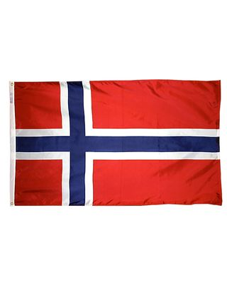 2ft. x 3ft. Norway Flag with Canvas Header