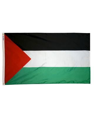 2ft. x 3ft. Palestine Flag with Canvas Header