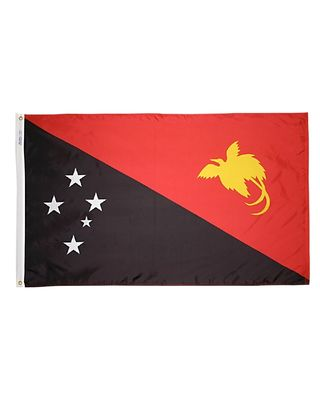3ft. x 5ft. Papua New Guinea Flag with Brass Grommets