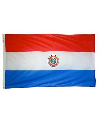 3ft. x 5ft. Paraguay Flag with Brass Grommets