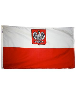 4ft. x 6ft. Poland w/Eagle Flag with Brass Grommets