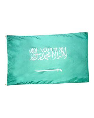 4ft. x 6ft. Saudi Arabia Flag w/ Line Snap & Ring