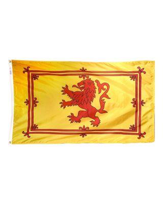 4ft. x 6ft. Scottish Rampant Lion Flag w/ Line Snap & Ring