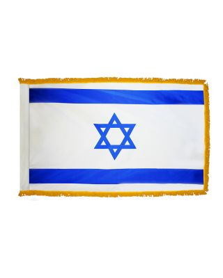 2ft. x 3ft. Israel Flag Fringed for Indoor Display