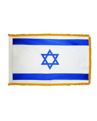 4ft. x 6ft. Israel Flag for Parades & Display with Fringe