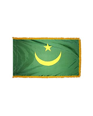 4ft. x 6ft. Mauritania Flag for Parades & Display with Fringe