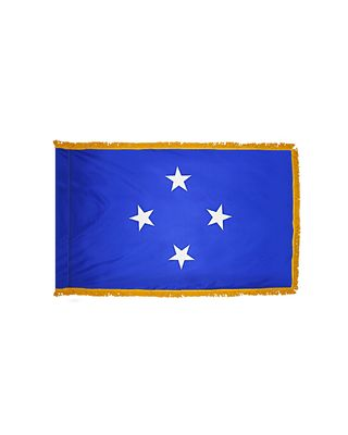 3 ft. x 5 ft. Micronesia Flag Indoor and Parade with Fringe