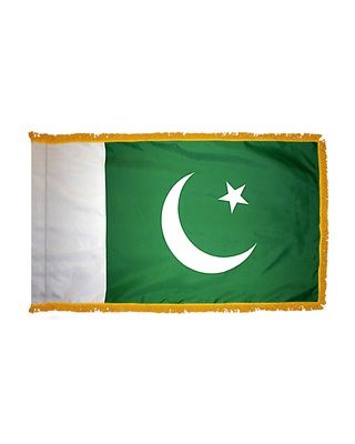 4ft. x 6ft. Pakistan Flag for Parades & Display with Fringe