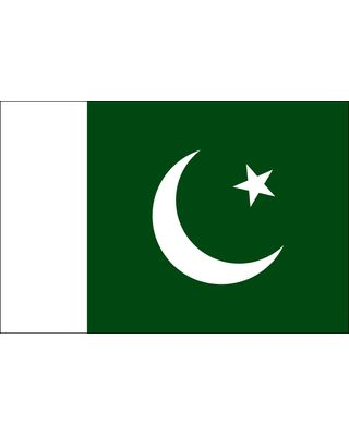 3ft. x 5ft. Pakistan Flag for Parades & Display