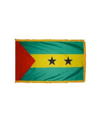 3ft. x 5ft. Sao Tome & Principe Flag for Parades & Display w/Fringe