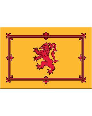 3ft. x 5ft. Scottish Rampant Lion Flag Indoor with Fringe