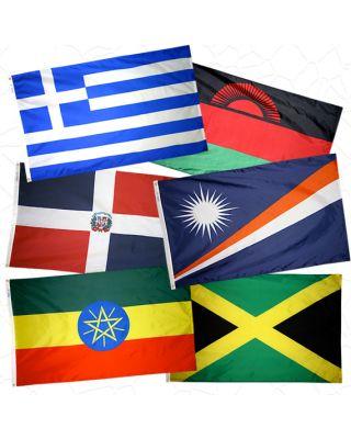 2 ft. x 3 ft. U.N. Member Flag Set For Indoor & Parade