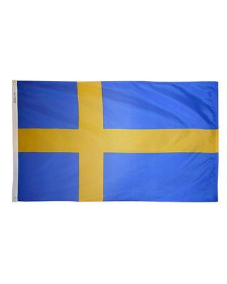 4ft. x 6ft. Sweden Flag with Brass Grommets