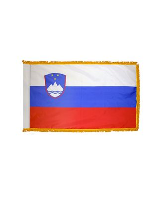 2ft. x 3ft. Slovenia Flag Fringed for Indoor Display