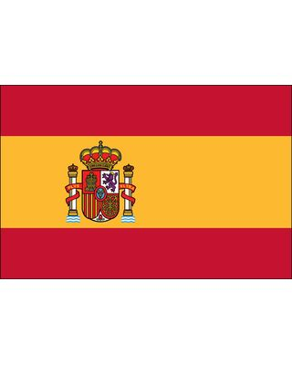 2ft. x 3ft. Spain Flag Seal for Indoor Display