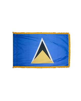 4ft. x 6ft. St. Lucia Flag for Parades & Display with Fringe
