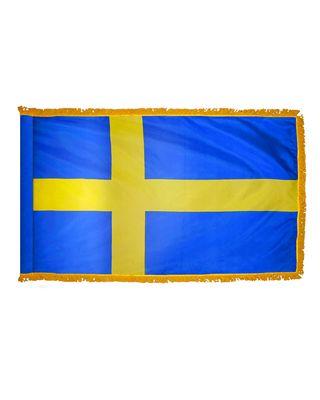 3ft. x 5ft. Sweden Flag for Parades & Display with Fringe