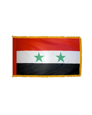 4ft. x 6ft. Syria Flag for Parades & Display with Fringe