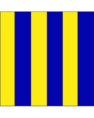 Size 3-1/2 Letter G Signal Flag with Line Snap and Ring