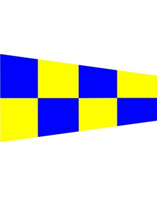 Size 4 Negation Signal Pennant with Line Snap and Ring
