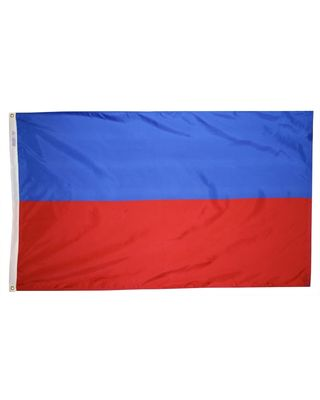 4ft. x 6ft. Haiti Flag No Seal w/ Line Snap & Ring