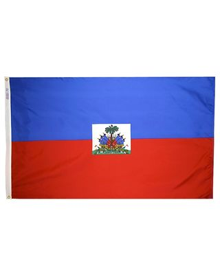 2ft. x 3ft. Haiti Flag Seal with Canvas Header