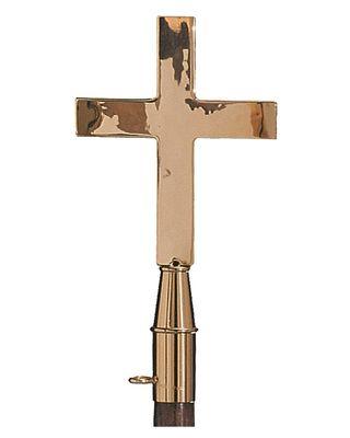 Solid Brass Plain Church Cross Finial