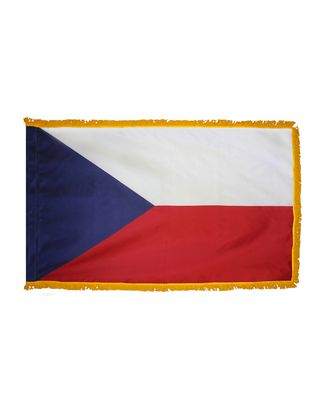 2ft. x 3ft. Czech Republic Flag Fringed for Indoor Display