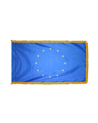 3ft. x 5ft. European Union Flag for Parades & Display with Fringe