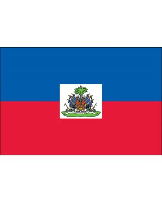 2ft. x 3ft. Haiti Flag Seal for Indoor Display