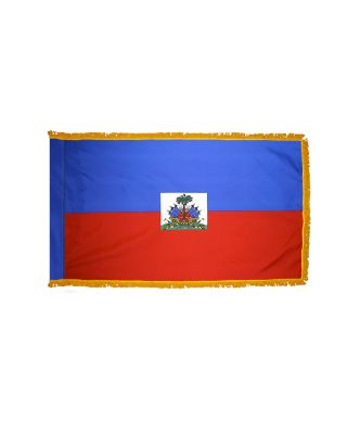 4ft. x 6ft. Haiti Flag Seal for Parades & Display with Fringe