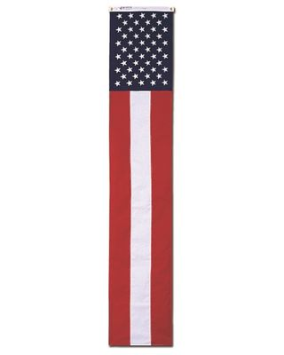 20 in. x 8 ft. Pull Down Sewn Strips Printed Stars Nylon