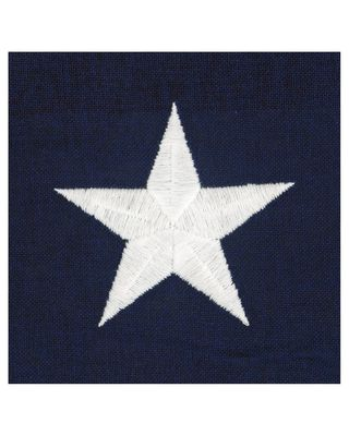 Embroidered Stars on Cotton Flag