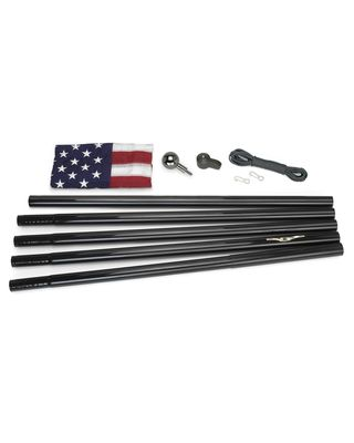 All American U.S. Flag Kit - 18 ft. Black Flagpole