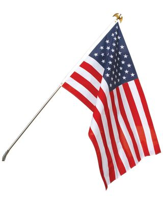 2 x 3 ft e poly u s set with steel pole for 3 flag pole etiquette