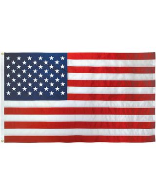 16 in. x 24 in. US Flag Nylon Heading & Grommets
