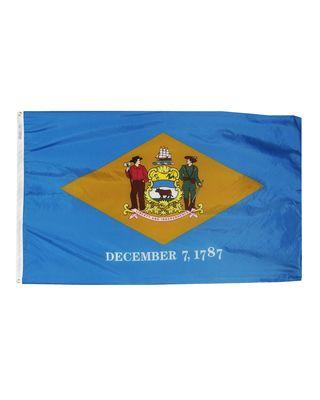 2ft. x 3ft. Delaware Flag with Brass Grommets