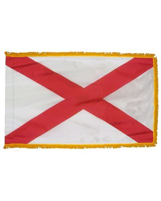 3ft. x 5ft. Alabama Flag Fringed for Indoor Display