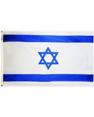 3 ft. x 5 ft. Israel Flag E-poly with Brass Grommets
