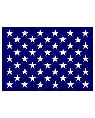 13x15 in. Nylon U.S. Jack Flag with Heading and Grommets
