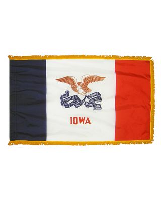 2ft. x 3ft. Iowa Flag Fringed for Indoor Display