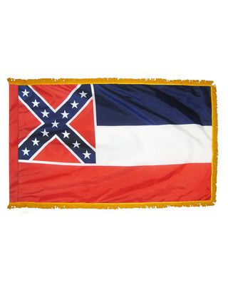 2ft. x 3ft. Mississippi Flag Fringed for Indoor Display