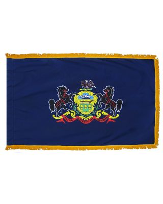2ft. x 3ft. Pennsylvania Flag Fringed for Indoor Display