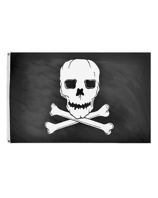 3 ft. x 5 ft. Jolly Roger Flag w/ Brass Grommets