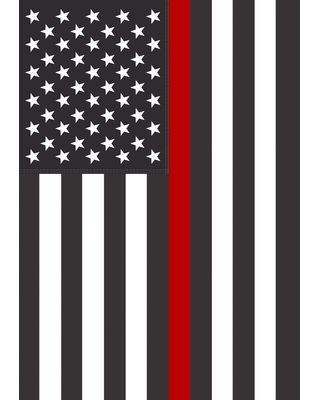28 in. x 40 in. US Thin Red Line House Flag