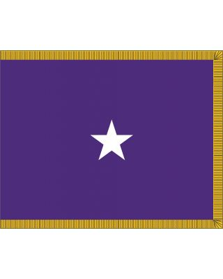3 x 4ft. Chaplain 1 Star General Flag for Indoor Display Fringed