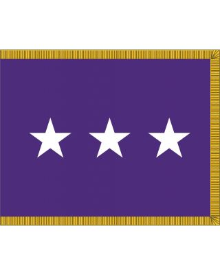 3ft. x 4ft. Chaplain 3 Star General Flag Indoor Display Fringed
