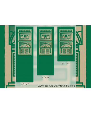 30 x 60 in. Seasonal Banner Old Downtown Building