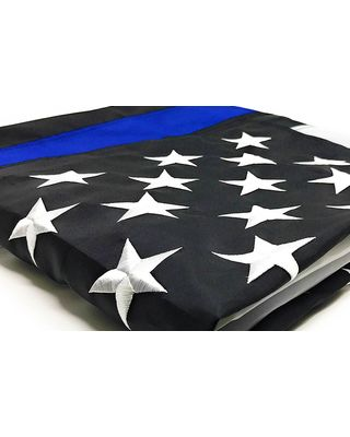 Embroidered Stars on the Thin Blue Line Flag